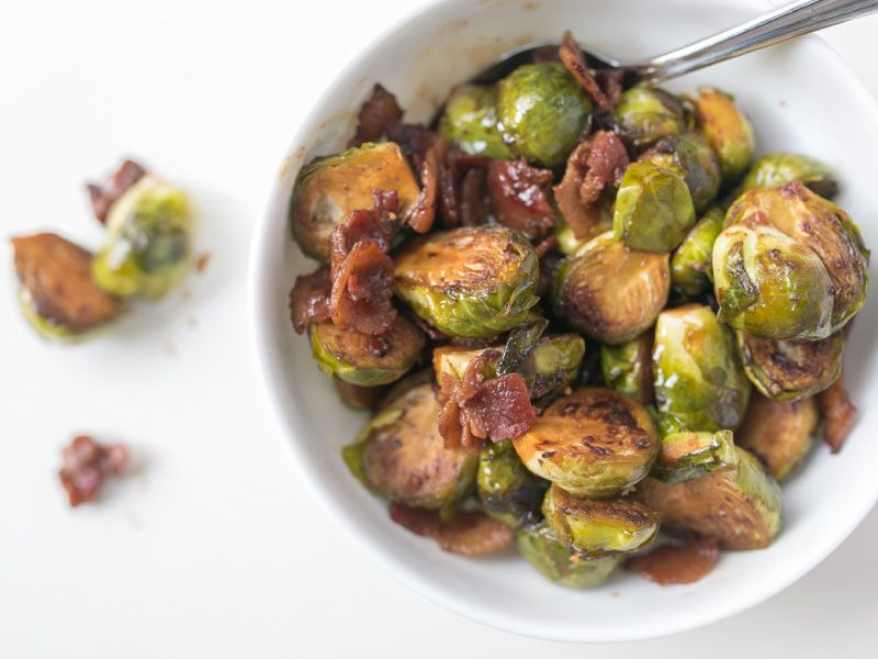 Balsamic Bacon Brussels Sprouts Cook Smarts Recipe Recipe Sprout Recipes Brussels Sprouts Recipe Brussel Sprouts