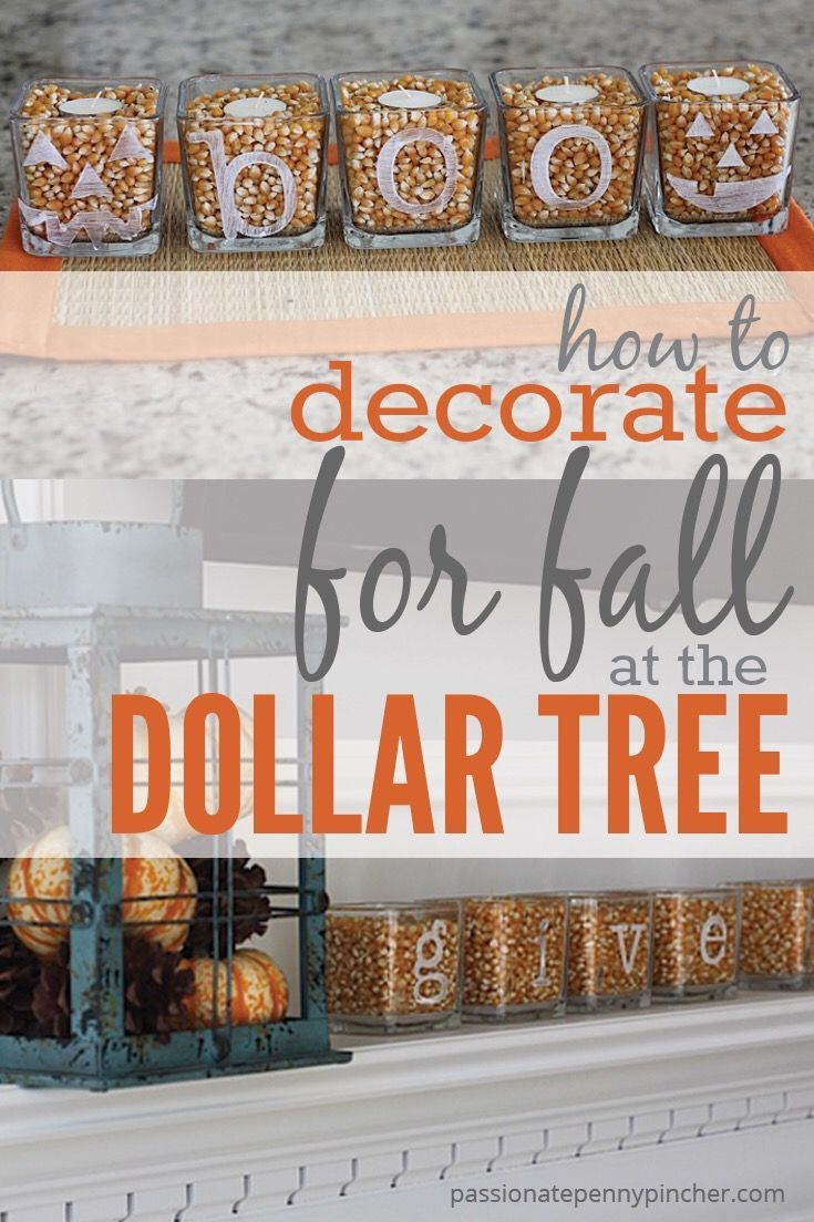 7a245686f9 How To Decorate for Fall  at the Dollar Tree