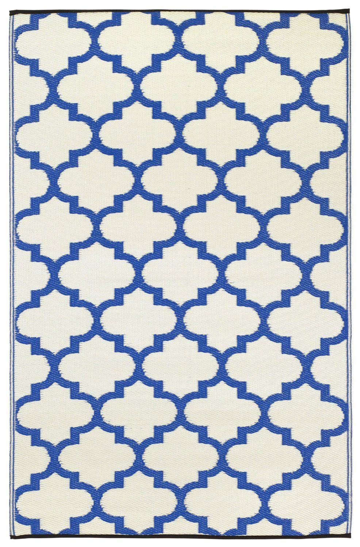 Fab Habitat Interieur Tapis Exterieur Tanger Regate Bleu Blanc 120cm X 180cm Amazon Fr Jardin Blue And White Rug Outdoor Plastic Rug Plastic Rug