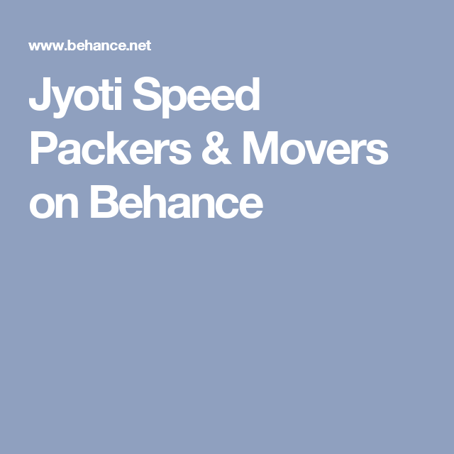 Jyoti Speed Packers & Movers on Behance