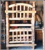 Bunk Bed Headboard much more work than regular Log beds