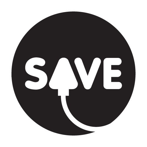 save electricity logo saving energy helps the planet