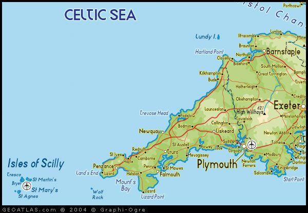 Map Of England Showing Cornwall.Map Of South West England Map Uk