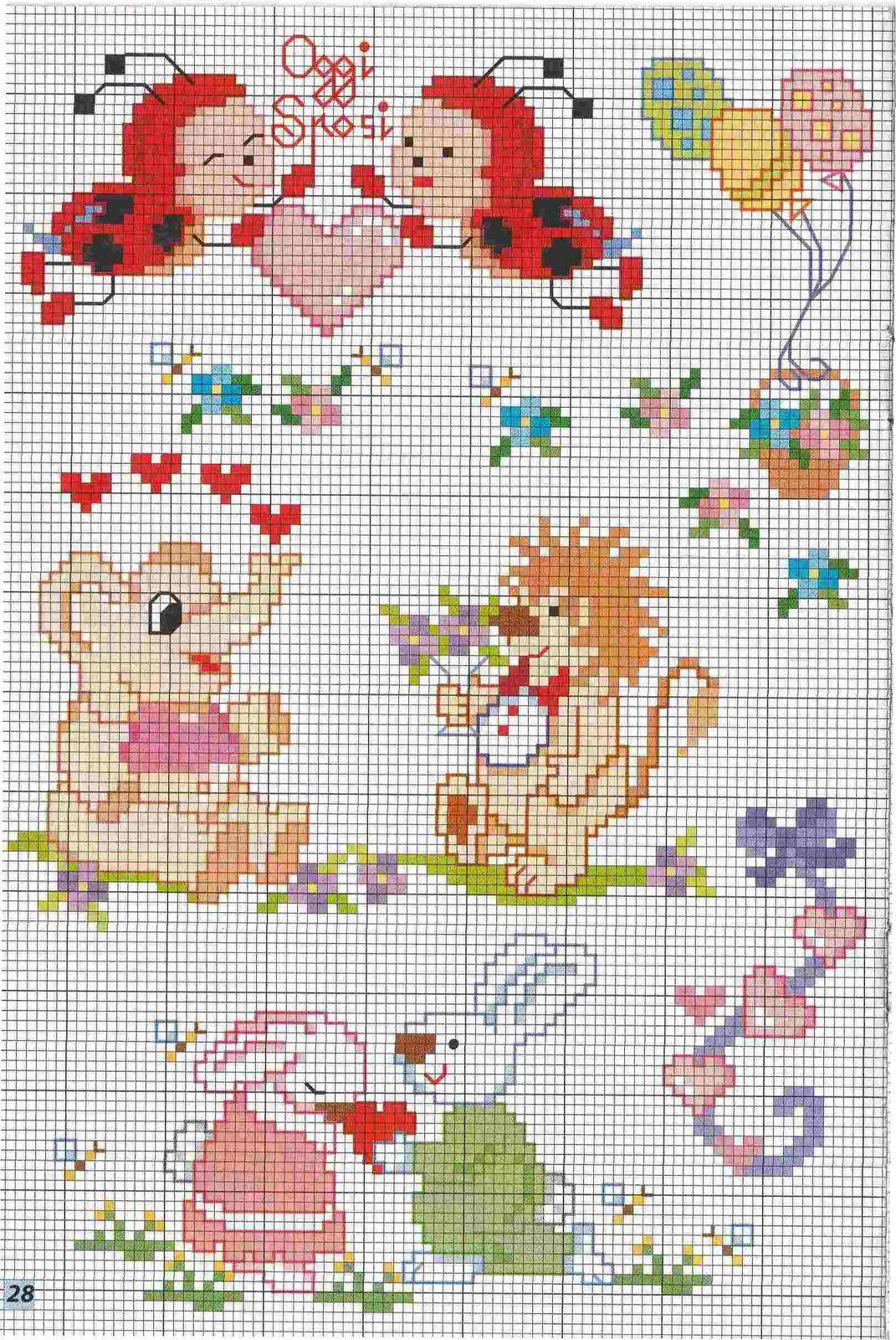 Lenzuolini neonato punto croce cerca con for Lenzuolini punto croce per bambini