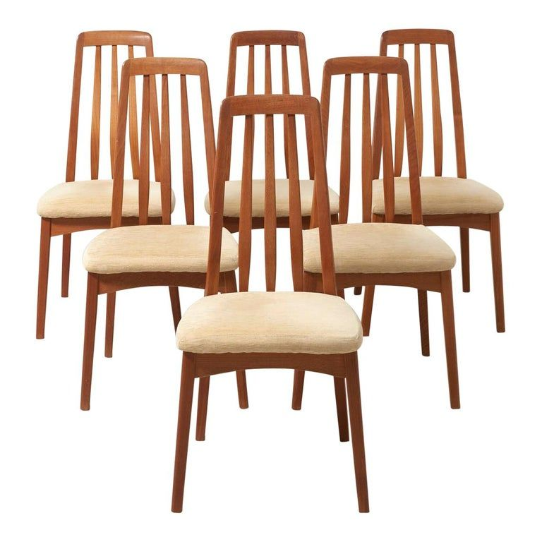 6 Eva Chairs By Niels Koefoed 1960s In 2020 Teak Dining Chairs