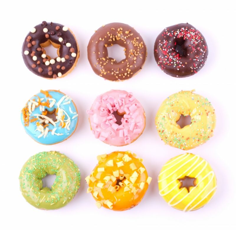 Donuts with different coverage kitchen wallpaper mural