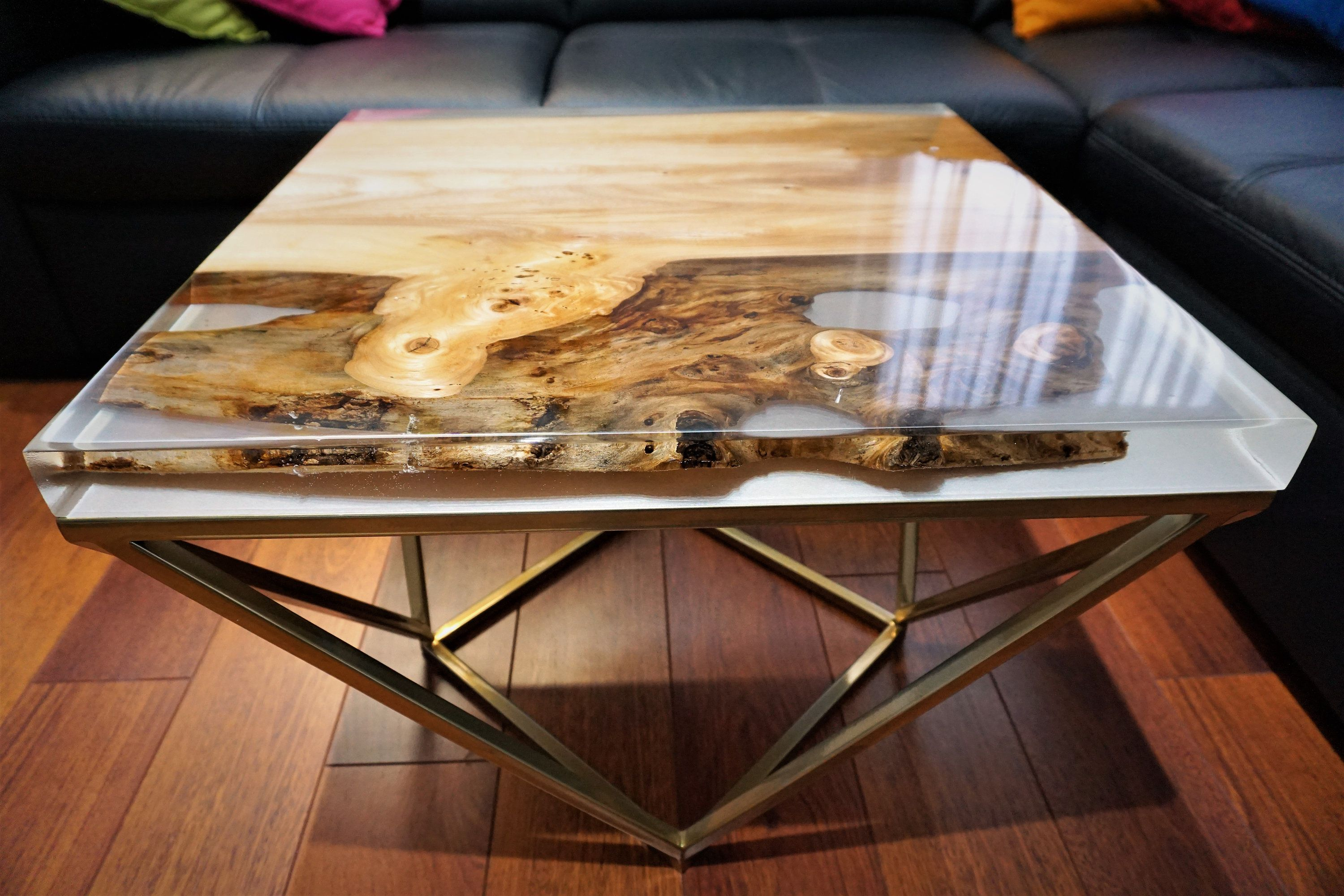 15++ Wood coffee table gold legs trends