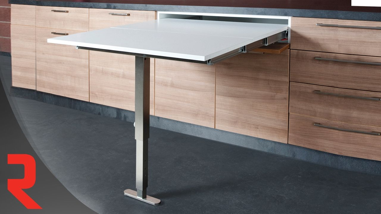 Comment Installer Le Mecanisme Pour Extension De Table T Able Xl Table Escamotable Table Cuisine Table De Cuisine Pliable