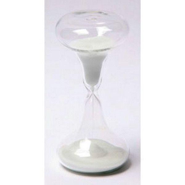 15 Minute Clear Glass Beaker Timer | Products | Hourglass