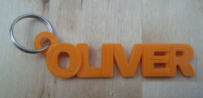 Printed Name Tag With Tinkercad