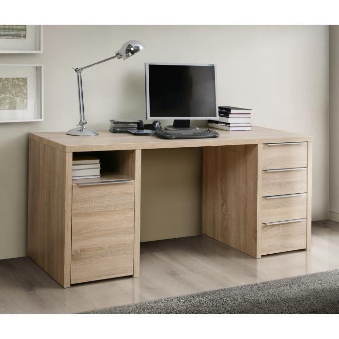 Calpe Bureau Chene Sonoma L 160 Cm Bureau Chene Meuble Design Et Meuble Rangement Chambre