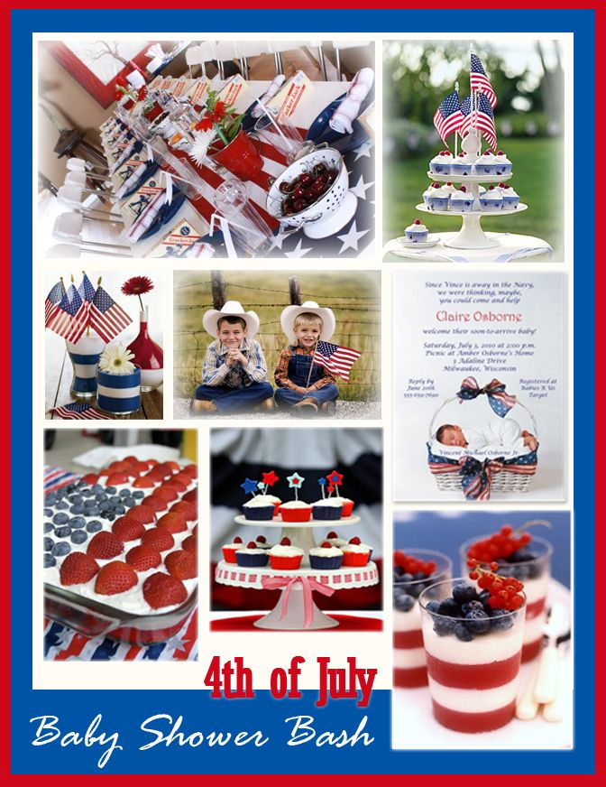 4th Of July Baby Shower - Baby Shower Invitations