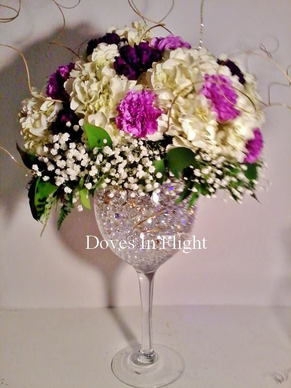 Wine Gles For Centerpieces