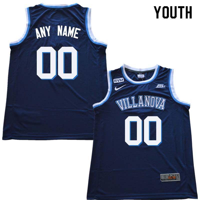 378c49f2ac4 2018 Customs Youth Villanova Wildcats College Basketball Jersey Sale-Navy