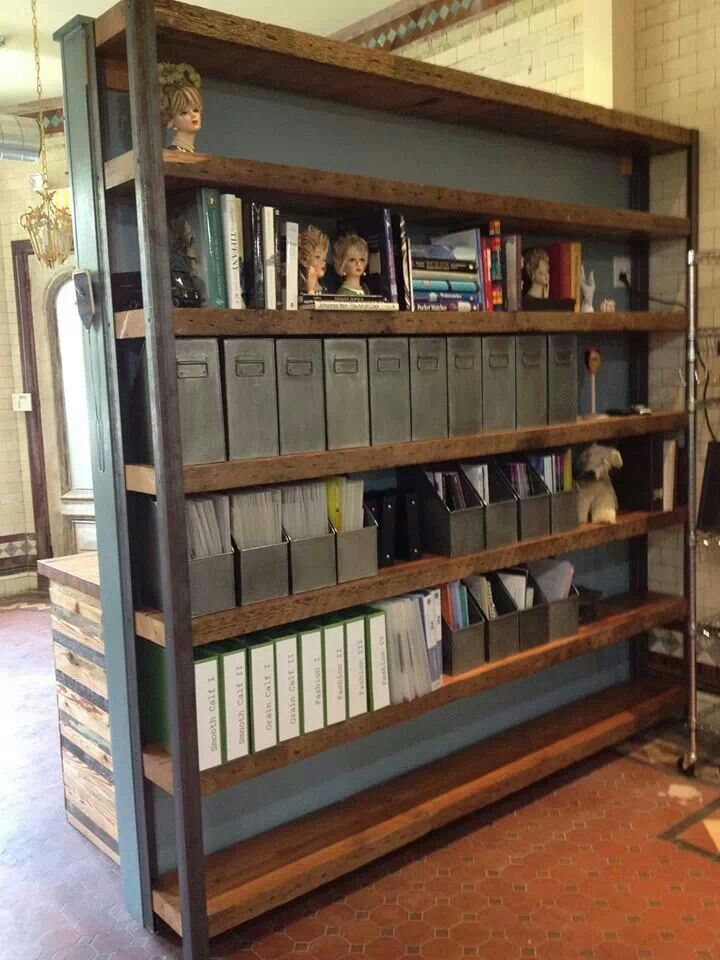 From Philadelphia Salvage Co Industrial Bookshelf
