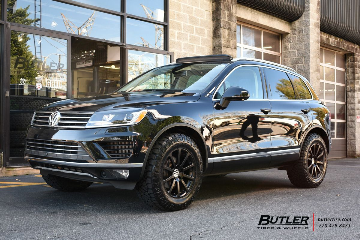Vw Touareg With 18in Victor Zehn Wheels Touareg Vw Volkswagen