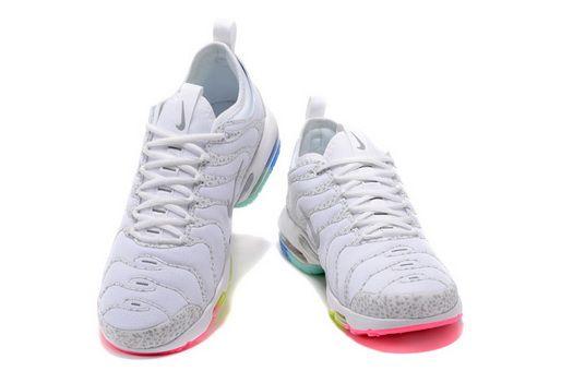 1792995b0805 Nike Air Max Plus Tn Ultra White Grey Rainbow 881560 437 Popular Shoe