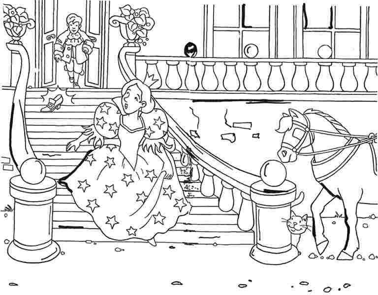 Free Colouring Pages Coloring Pages Disney Princess Cinderella For
