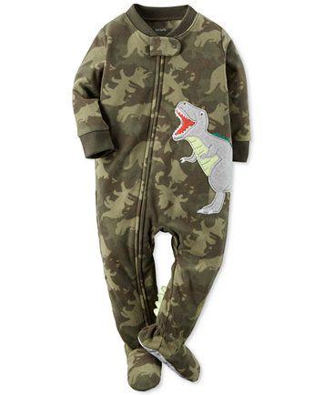 e2dcbf5dd881 Carter s 1-Pc. Camo-Print Dinosaur Footed Pajamas