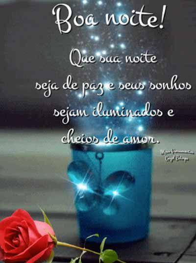 Imagem Boa Noite flor vermelha
