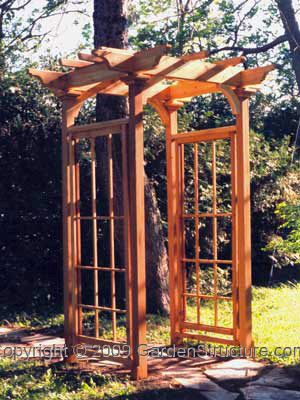 a craftsman style pergola for the backyard covered with snail vine would be nice