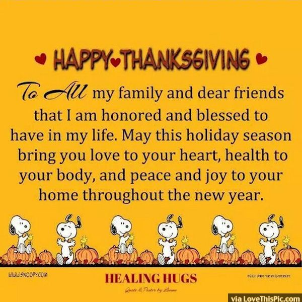 Thanksgiving Quotes For Family Happy Thanksgiving To All My Friends And Family  Barbs Dream