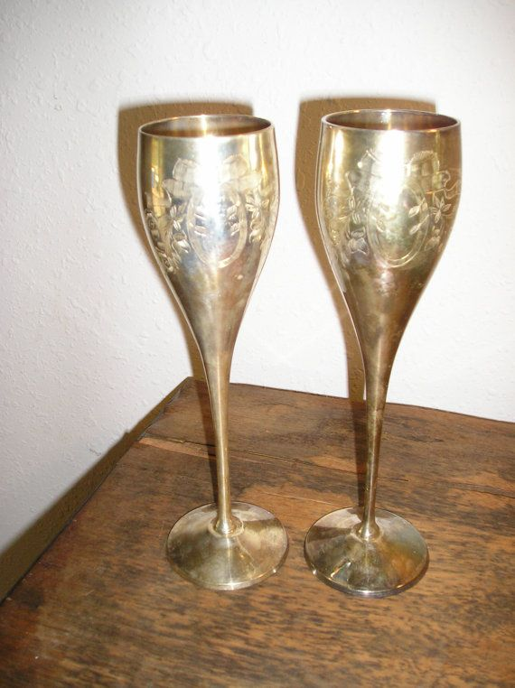 3be7378ecc1b Champagne Flutes International Silver Company, goes gorgeous with the  twilight theme... One set for sweetheart table only