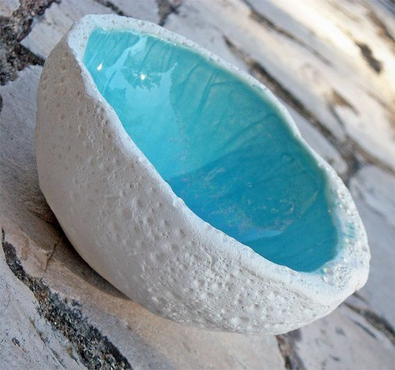 Decorative Ceramic Bowl Decorative Ceramic Bowl In Turquoise Textured Potteryazulado