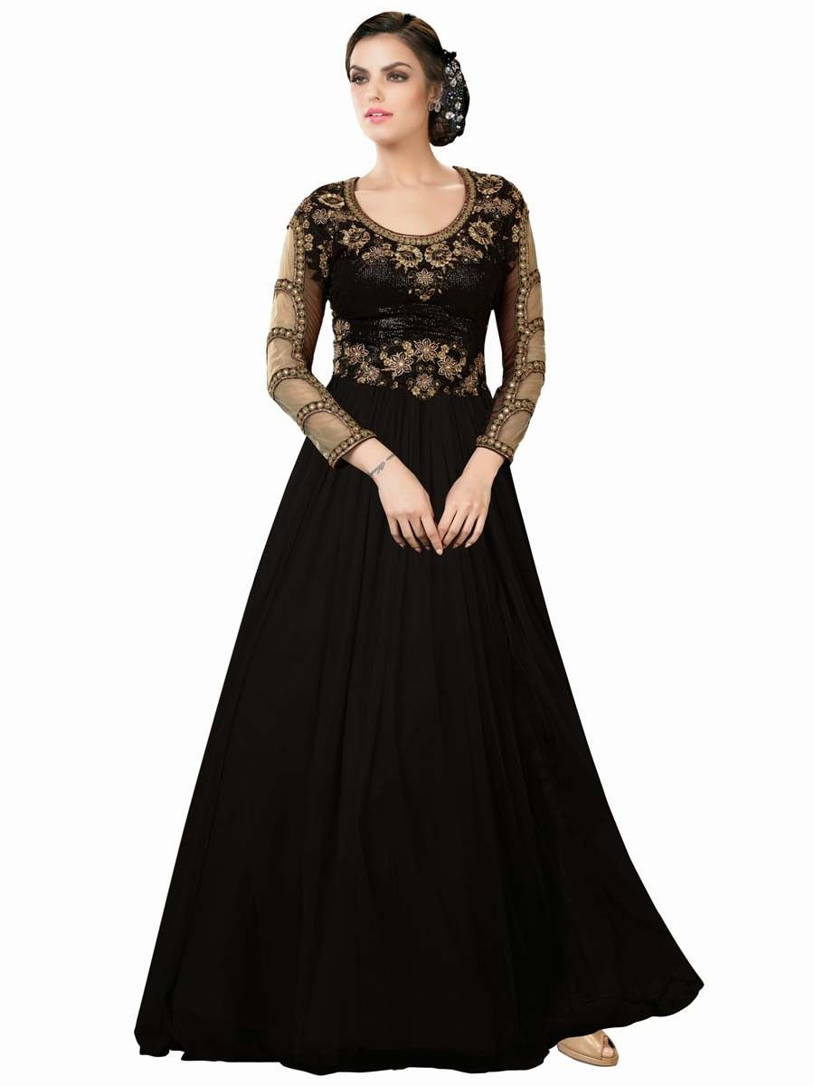 Dress code evening gown - Aesthetic Black Color Evening Gown Item Code Ghd6010