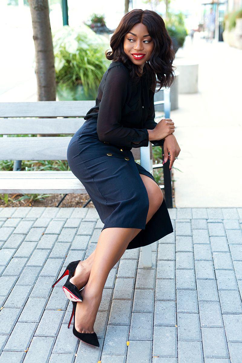 midi wrap skirt for work, www.jadore-fashion.com | Jadore Fashion ...