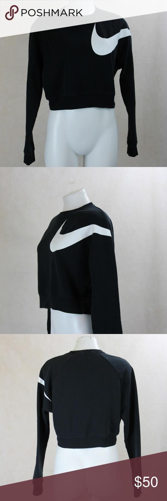 Vtg Nike Dri Fit Black Crop Sweatshirt Swoosh Crop Sweatshirt Sweatshirts Black Crop [ 1740 x 580 Pixel ]