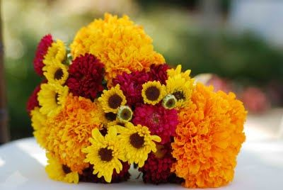 Marigold Wedding Bouquets My Mom And I Always Planted Marigolds In Our Garden Ever Since