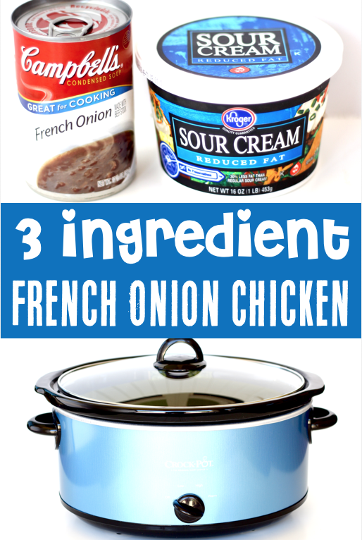 Crockpot French Onion Chicken Recipe! {Just 3 Ingredients}