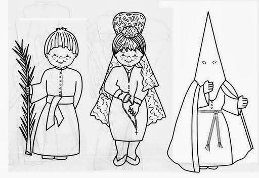 Semana Santa Dibujos Para Colorear Nazarenos Capirotes Pasos En 2020 Semana Santa Ninos Dibujos Para Colorear Semana Santa