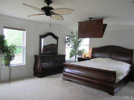 Over the bed flat screen tv?...um, no!