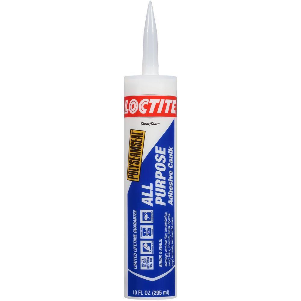 Loctite Polyseamseal 10 Fl Oz Clear All Purpose Adhesive Caulk 12 Pack Adhesive Plastic Moulding Purpose