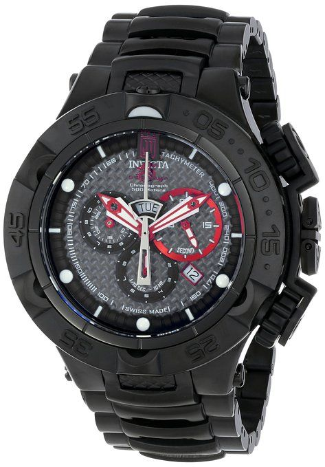 Invicta Men's 14411BWB Jason Taylor Analog Display Swiss Quartz Black Watch