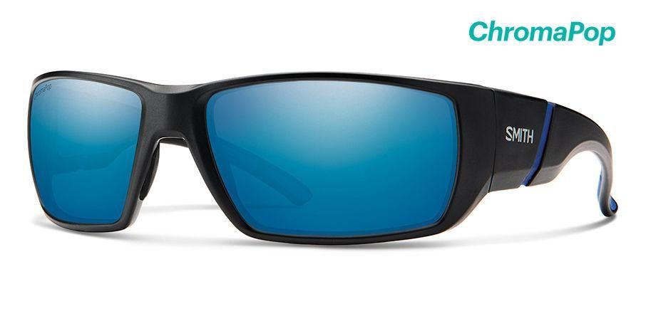 3501ce0614 Smith - Transfer Matte Black Sunglasses   ChromaPop Polarized Blue Mirror  Lenses