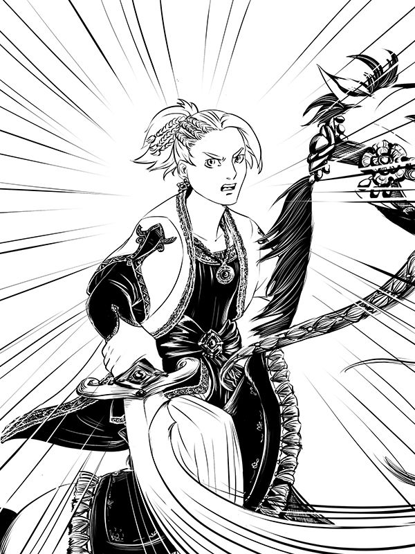 jeiran #dessin #manga #orient #soldat #cheval #encrage #ink #drawing