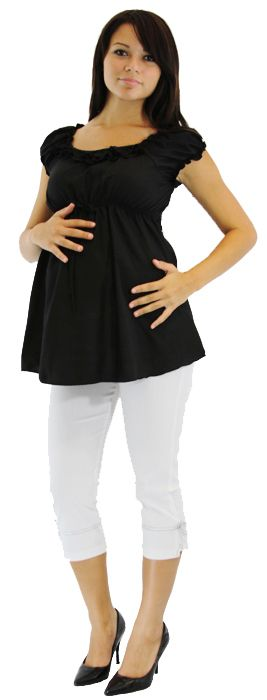 Ruffle Maternity Top With Capri 2 Piece Set Ruffle Maternity Top With Capri 2 Piece Set Maternity Tops Casual Maternity Maternity Clothes
