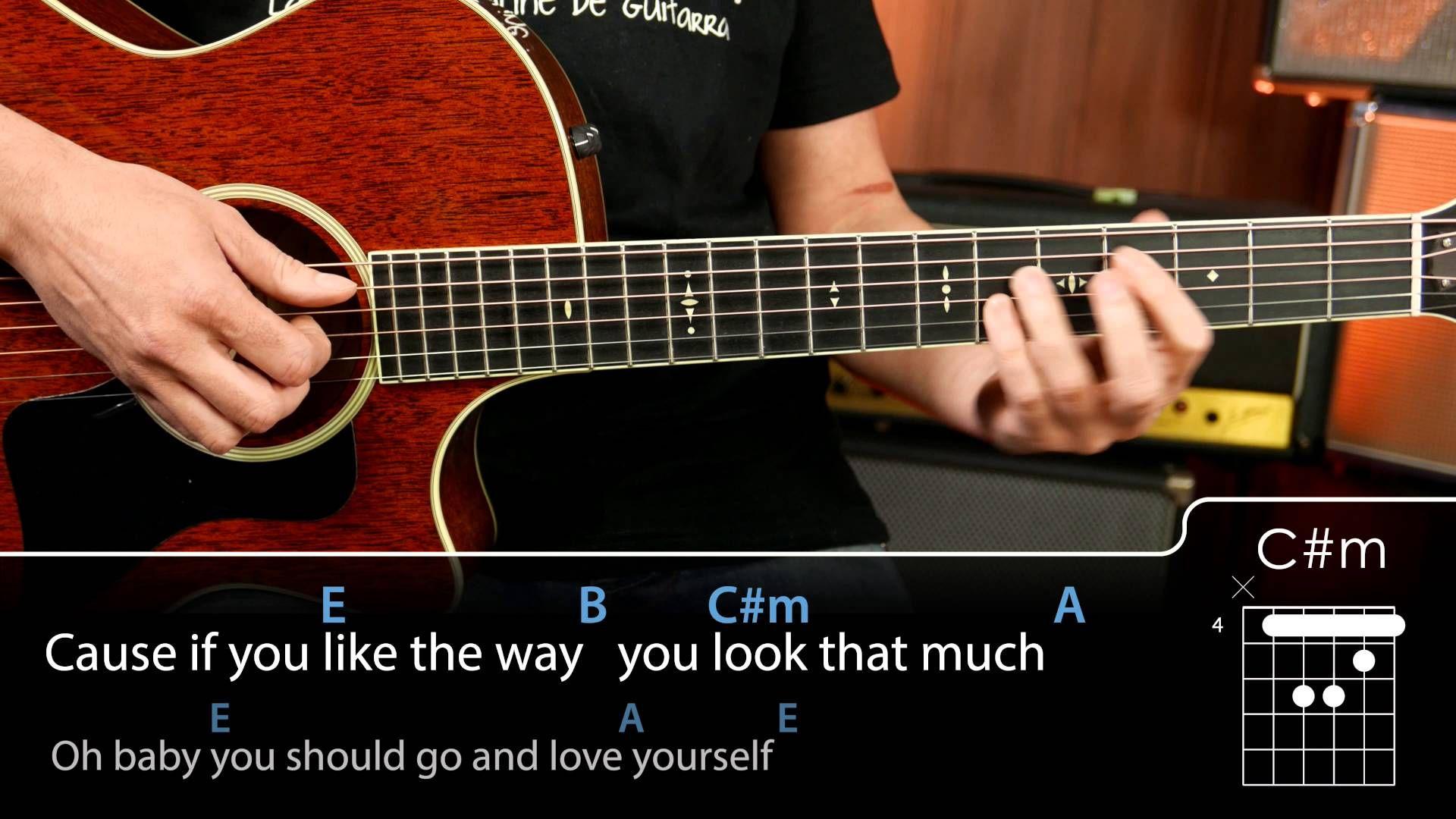 Love Yourself Chords Tutorial Guitarra Guitar Guitar Tutorial