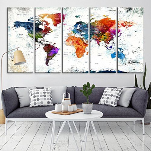 Pin by world map canvas on world map canvas prints pinterest explore world map wall art world map canvas and more gumiabroncs Choice Image