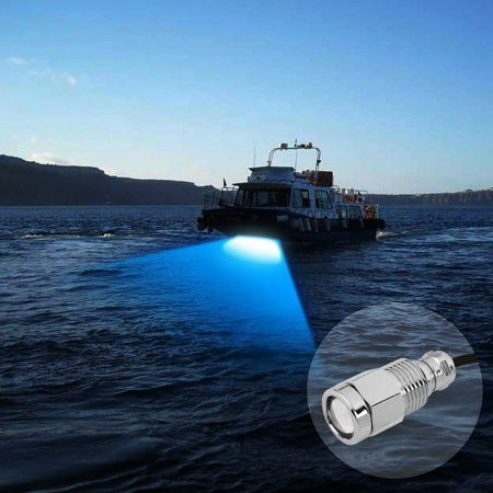 Blue Boat Light Led 1 2 Inch Npt Underwater Boat Drain Plug