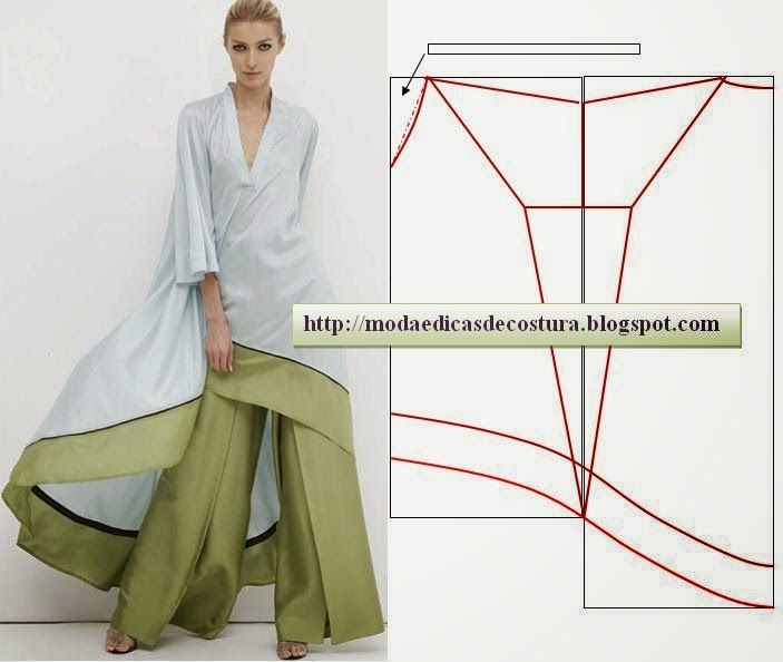Moda e Dicas de Costura: TÚNICA FÁCIL DE FAZER | Colores | Pinterest ...