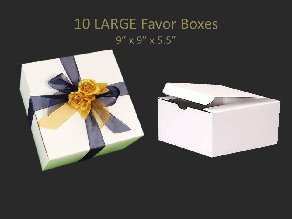 10 Large Gift Boxes For Bridesmaid S Gifts 9 X 9 Inch Gift Box Clothing Gift Boxes Stemware Gift Box Groomsmen S Gift Box With Images Groomsmen Gift Box Bridesmaid Gift Boxes Large Gift Boxes