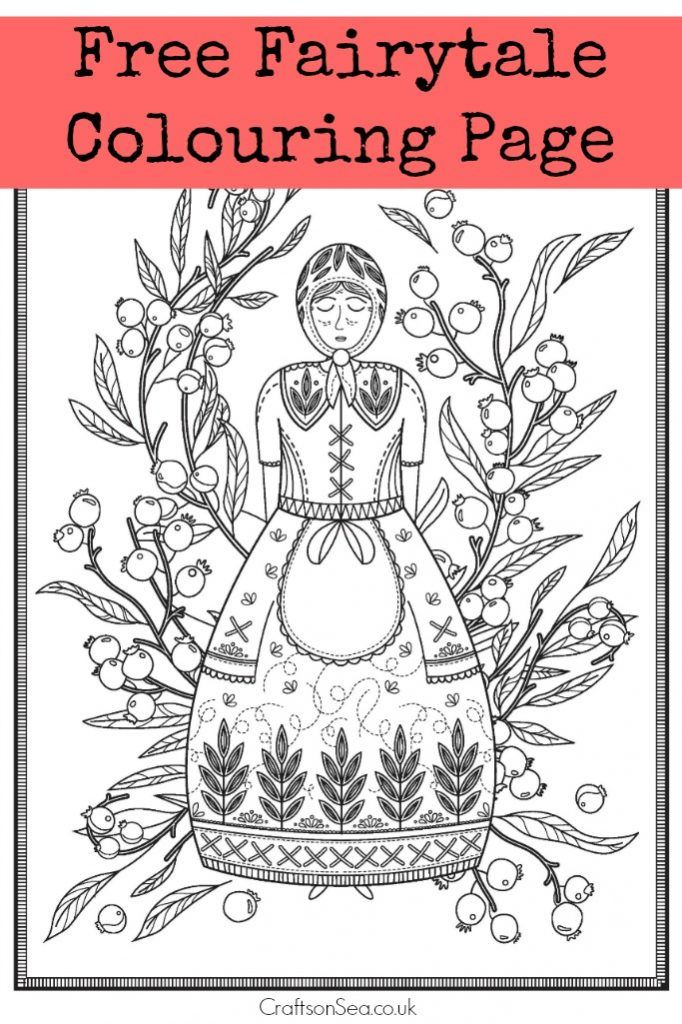 Free Fairytale Colouring Page | Coloring pages, Free adult ...