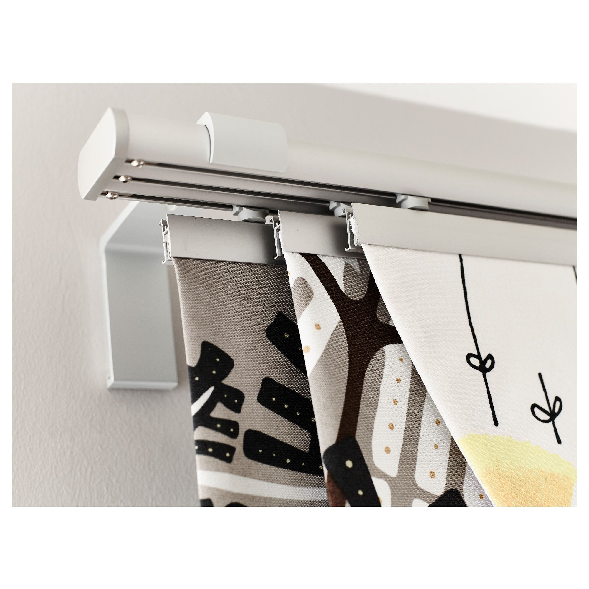 ikea - kvartal, triple curtain rail, you can use the included