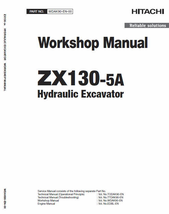 Hitachi Zx130 5a Excavator Service Manual Excavator Hitachi Electrical Circuit Diagram
