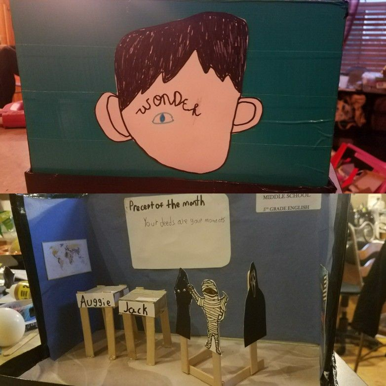 Diorama for the book Wonder | School Projects | Diorama kids