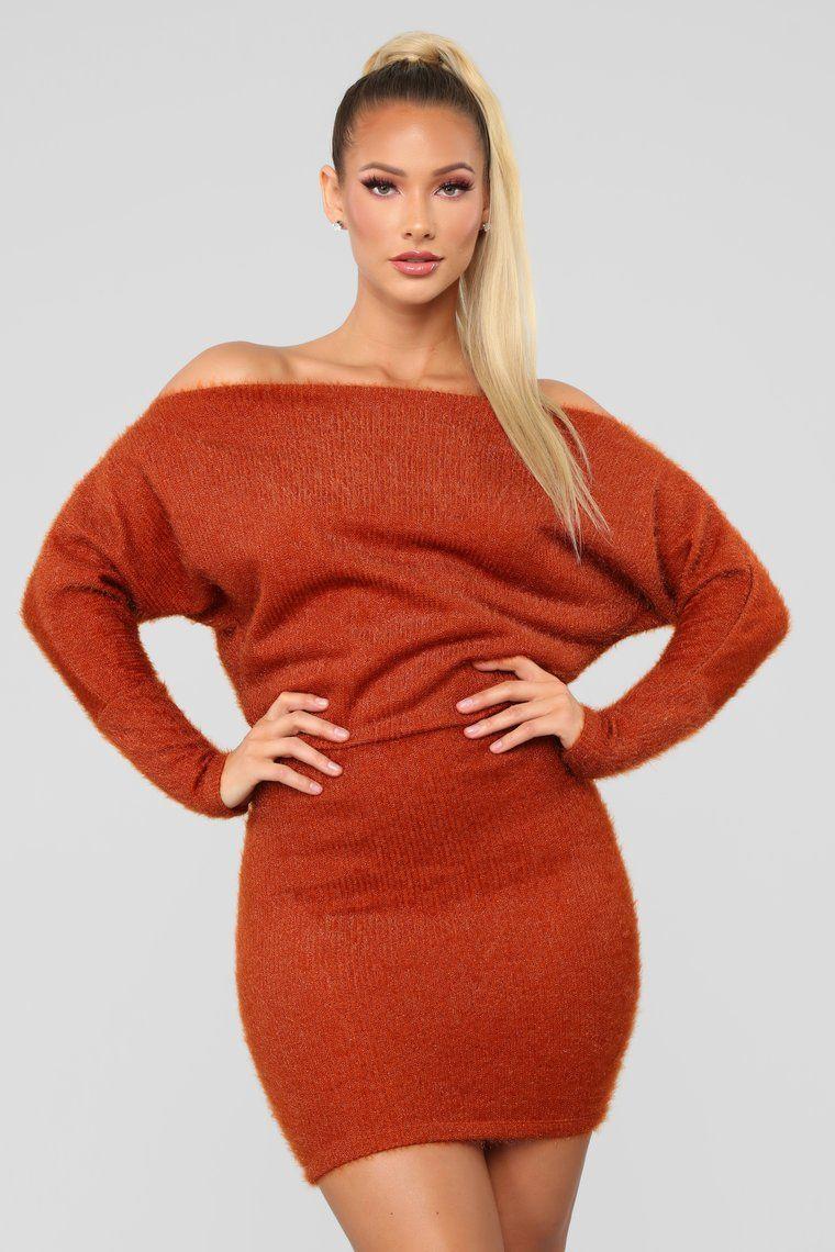 ce8f0cc4eb7 Crazy In Love Sweater Dress - Rust in 2019